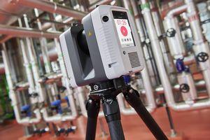 Der 3D-Lasercanner RTC 360 erzeugt in weniger als zwei Minuten einen 360-Grad-Scan der Umgebung.