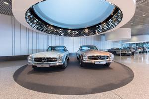 Im weltbekannten Mercedes-Benz Museum Stuttgart sanierte die Leonhard Weiss Fußbodentechnik diverse Bodenflächen im Ausstellungsbereich sowie in der Restaurantküche.