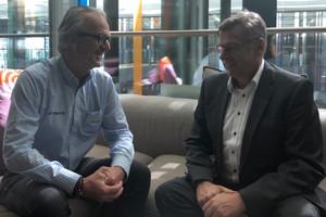 Wolfgang Bücken, Business Development & Key Account Manager DACH bei Topcon Positioning Deutschland, sprach auf der Intergeo 2019 in Stuttgart mit THIS-Chefredakteur Eugen Schmitz über mögliche Effizienzgewinne mit der neuen GTL-1000.