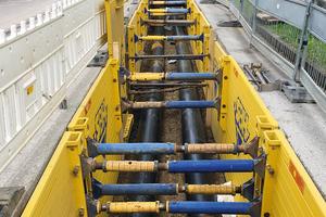 In Ludwigsburg sind für die Erweiterung des Fernwärmeverbundnetzes der SWLB Kunststoffmantelrohre, sogenannte KMR-Rohre, einfach verstärkt, DN 250/DA 450 zum Einsatz gekommen.