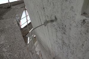 Turmaußenwand nach den Unterrgundvorbereitungen