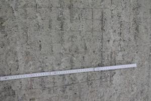 Turmaussenwand - nach Untergrund mit freigelegtem Bewehrungsstahl