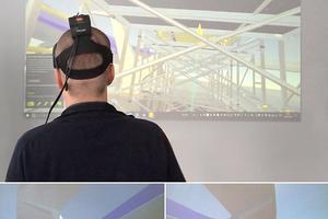 Mittels Virtual Reality konnten Polier und Projektleiter schon im Vorfeld den späteren Schalungsaufbau 1:1 virtuell betrachten.