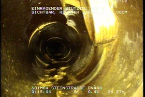 Bei der Kamerainspektion wurden zahlreiche einragende Stutzen ersichtlich.