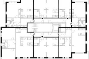 Bedarfskonzept 2 – Integrativer Wohnraum: Gebäude mit sozialer Durchmischung. Dieses Konzept bietet Raum für generationenübergreifendes Wohnen oder Wohnformen, die durch die Einbindung von Familienverbänden oder Nachbarschaftsgruppen zu einer sozialen Durchmischung von Wohngebäuden oder Quartieren führen und einen Beitrag für die Zukunftsfähigkeit einer Stadtgesellschaft leisten.