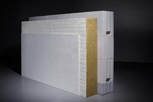 Die einschalige Funktionswand kombiniert die Baustoffe mit den jeweils günstigsten Eigenschaften in einem Schichtenaufbau. Dadurch werden bei gleichen Anforderungsgrößen deutlich schlankere Wandkonstruktionen erzielt als bei monolithischen Wandkonstruktionen.