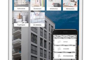 Die KS-App vereint nützliche Informationen und Funktionen rund um das Bauen mit Kalksandstein.