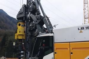 Mit dem LB 16 unplugged ist das erste akkubetriebene Großdrehbohrgerät im Einsatz.