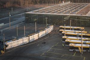 Technisches Zentrum Heiterblick der Leipziger Verkehrsbetriebe. Hauptwerkstatt für die Wartung und Instandsetzung der Straßenbahnen.