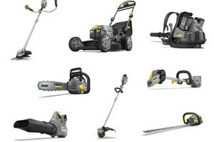 """Insgesamt acht leistungsfähige 36-Volt-Produkte umfasst das kabellose """"Outdoor Power Equipment"""" für professionelle Anwender.<br />"""