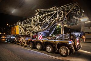 Zum Einsatz kam in München eine EuroCompact Kombination mit vier plus vier Achsen inklusive Dolly-Achse SmartAxle am vorderen Fahrwerk.