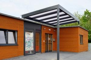Beispiel für Containerbauweise: Die Gemeinde Ketsch musste eine Interimslösung finden und entschied sich für den Bau einer Kita in Containerbauweise.