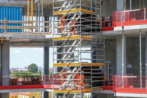 Für die effiziente Realisierung der Gebäudeform mit hohen architektonischen Ansprüchen wurden die Schalungs- und Traggerüstlösungen optimal aufeinander abgestimmt.