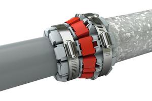 Die Funke FHS-Kupplung ist für die Verbindung von Abwasserrohren mit unterschiedlichen Außendurchmessern, Werkstoffen und Oberflächenstrukturen geeignet.