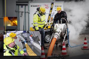Das RS Maxliner System der RS Technik AG für die grabenlose Sanierung von Hausanschlussleitungen, Sammelleitungen und Inhouse-Leitungen – jeweils mit entsprechender DIBt-Zulassung und einer Auswahl hochwertiger Technik und Materialien.