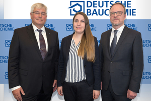 Für die Deutsche Bauchemie im Einsatz: (v.l.) Norbert Schröter, Marieke Thomé und Martin Glöckner.