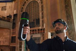 Mit dem bildgebenden Laserscanner lassen sich 3D-Umgebungen nahtlos erfassen.<br />
