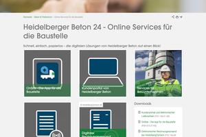 """Unter dem virtuellen Dach """"Heidelberger Beton 24"""" sind ab sofort alle digitalen Services für die Zielgruppen Bauunternehmen und Architekten gebündelt."""