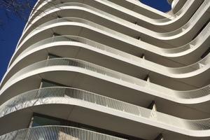 Nach dem Balqoon-System konnten die Balkone nachträglich an die bestehende Konstruktion montiert werden.