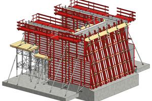 Die 3-D-Planung von MEVA erleichterte mit detaillierten Angaben den Aufbau der Schalung.