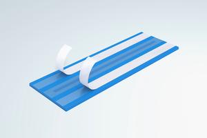 Die Tronsole Typ B zur akustischen Entkopplung des Treppenlaufs (Fertigteil- oder Ortbetontreppenlauf) an der Bodenplatte.