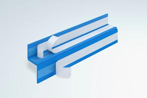Die Tronsole Typ F zur akustischen Entkopplung des Treppenlaufs (Fertigteil) an Podesten (Element- oder Vollfertigteil) oder Geschossdecken.