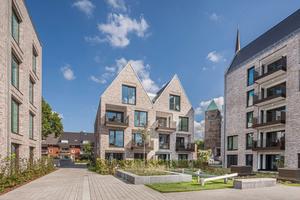 """Nahe der Bremer Altstadt – im Stephaniviertel – ist jetzt das Quartier """"Wohnen vor Stephani"""" entstanden."""