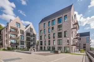 Der Architekturstil der Gebäude erinnert an Bremer Packhäuser.