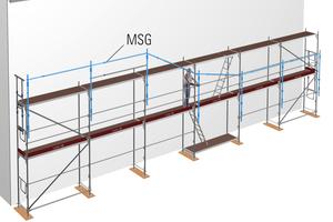 Die flexible Lösung für die oberste Lage ist das temporäre MSG von Layher.