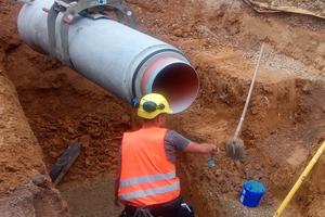 Ein Kanalrohrsystem aus Beton und Kunststoff: Das Ergebnis ist ein äußerst dichtes, stabiles und langlebiges Rohrsystem.