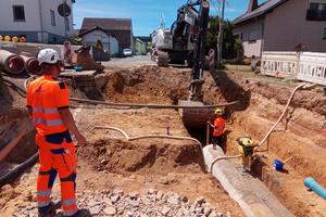 Nachhaltigkeit war Trumpf bei der Sanierung der Infrastruktur in Mudershausen, auch bei der Wahl des Kanalrohrsystems.<br />