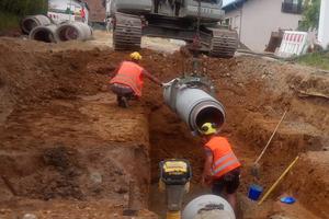 Die Fabekun-Rohre waren auf der Baustelle gut zu handhaben. Das trug zu einer schnellen und sicheren Verlegung bei.