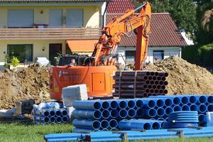 Die Gemeinde entschied sich auch unter dem Aspekt der Nachhaltigkeit für HS-Kanalrohre von Funke.