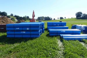 Den Erschließungsarbeiten im Baugebiet Kirlesberg Ost liegt ein umfangreiches Konzept zur Regenwasserentwässerung zugrunde.