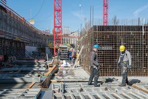 Auf der Leo-Baustelle kommt am häufigsten die Noetop mit dem Abmessungen von 2,65 x 3,31 m zum Einsatz.<br />