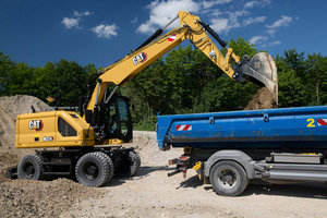 Der Cat M314 mit 110 kW (150 PS) und 15 bis 18 Tonnen Einsatzgewicht.