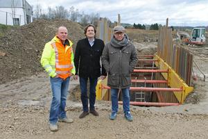 Haben schon einige Projekte zusammen gemeistert: Bauführer Andreas Iks, Martin Echelmeyer und Ingo Schachtschneider (von links).
