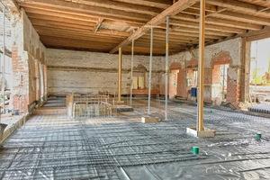 Der Sixenstadel war vor der Renovierung innen komplett offen.