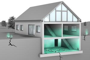 Radon-Eintritt im Haus