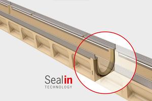 Seal In Technologie, die zertifizierte, serienmäßig integrierte Dichtung am Rinnenstoß