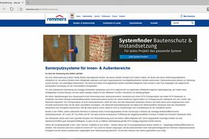 Website Kellersanierung<br />