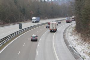 Der horizontal-hybrid gebaute Abschnitt der A 61, fertiggestellt im Winter 2017/18.