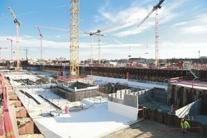 Mehr als 240.000 m³ Beton werden für das Terminalhauptgebäude verbaut.