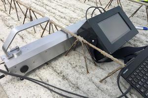 SL-Laser-Profilometer (SySpro Laser): neues mobiles Mess-System mit kompaktem Gehäuse zum Durchfahren in die Gitterträger
