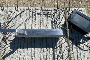 Rauheitsmessung mit dem Laserverfahren an der Oberfläche von Betonfertigplatten