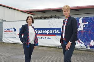 Die neue Geschäftsführung von Cargobull Parts & Services: Patricia Aznar und Britta Sprey.