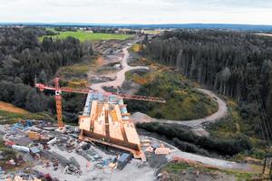 Die Planung und der Ausbau der Bundesstraße wurde mit der Software Magnet von Topcon realisiert.