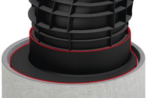 Sanierungsadapter aus Kunststoff passend für Betonteile DIN 4052.
