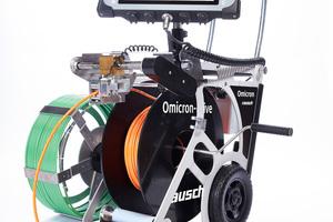 Omicron ist weltweit das erste System für Rohr- und Kanalinspektionen, das sowohl Schiebe- als auch Fahrwagenbetrieb in Full-HD ermöglicht.