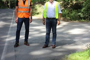 Thomas Conrad vom Landratsamt Heilbronn (links) und Andreas Biedermann, Verkaufsleiter Deutschland bei BG-Graspointner